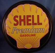 VINTAGE STYLE SHELL GAS PREMIUM GASOLINE METAL TIN SIGN MADE IN THE USA NEW
