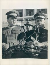 1945 Lt General Enver Hoxha PM of Albania & Colonel Sokolov Press Photo