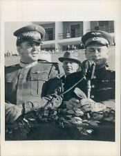 1945 Lt General Enver Hoxha PM of Albania & Colonel Sokolov Press Photo