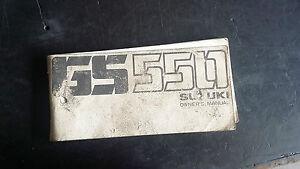 Suzuki GS550 GS 550 Owners Manual 1977 1978