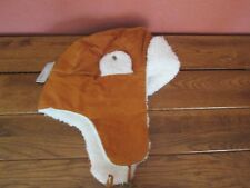 San Diego Hat Company Women's Camel Colored Leather Bomber Style Hat One Size