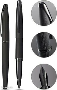 CROSS ATX - Stylo plume noir brossé plume médium