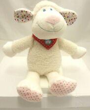 TEX doudou velours fourrure mouton écru  avec bandana rouge 29 cm