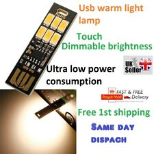 Lámpara con Bombilla De Tarjeta Delgada Bolsillo Llavero LED Blanco Cálido LED luz de noche alimentación usb reino unido