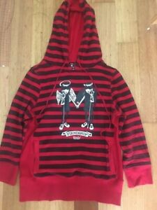 Emily the Strange, Red and Black, Hoodie, Women's Small, Emo, Goth