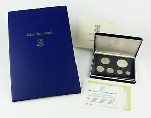 1974 British Virgin Islands 6 Coin Proof Set & 1973 First Day of Issue Covers