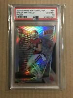 2018 BAKER MAYFIELD PANINI NATIONAL VIP SILVER REFRACTOR /99 PRIZM PSA 10 BROWNS