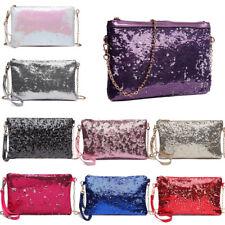 Ladies Vintage Sequin Envelope Clutch Chain Shoulder Bag Clutch Bag  Wallet
