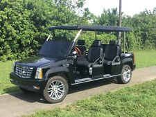 2015 ACG black Cadillac Escalade LSV custom limo Golf Cart 6 passenger seat