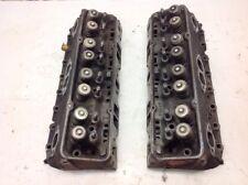 1970 - 1973 SBC chevy 6.6L 400ci GM Cylinder Head Pair 3973493 w/ steamholes