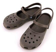 2c3e5ff68 CROCS Women s Mary Jane Clog Shoes Charcoal Brown Sz 9 ...