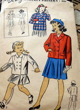 LOVELY VTG 1940s GIRLS JACKET & SKIRT DU BARRY Sewing Pattern 10