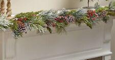 5 Ft. Snow-Flocked Northwoods Pine & Berries Christmas Garland