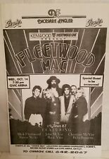 Fleetwood Mac Westwood One Tour Poster 1987 black/white 16x20 Great Condition!