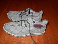 SEXY Mark Nason LOS Angeles Snake skin athletic shoes MENS 9.5 1/2 Gray Running