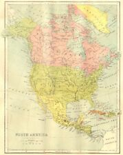 NORTH AMERICA. Map 1870 old antique vintage plan chart