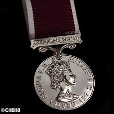 Full Size Regular Army and Good Conduct Medal Repro Elizabeth II Navy Army RAF