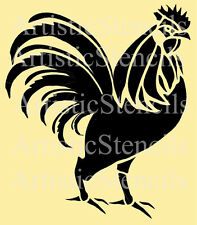 STENCIL French Rooster  10x9