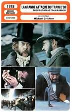 FICHE CINEMA : LA GRANDE ATTAQUE DU TRAIN D'OR - Connery,Sutherland,Crichton1978