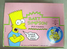 Vintage 1990 BART SIMPSON RETAIL DISPLAY CASE NOS COMPLETE 24 FIGURES SKATEBOARD