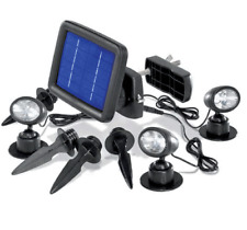 Lot de 3 lampes spot projecteur solaire 3 leds
