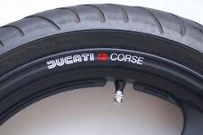 8 X Retro Ducati Corse Rueda Llanta Stickers Calcomanías-Colores - 748 749 848 Monster