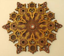 Spiritual Meditation Sacred Geometry Star Mandala Wood Art Wall Hanging Decor
