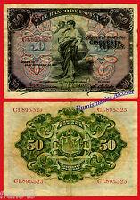 Billet 50 Pesetas 1906 BC ESPAGNE Série 58a F