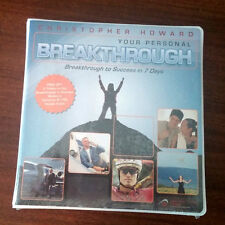 NEW CHRISTOPHER HOWARD YOUR PERSONAL BREAKTHROUGH 7 CD'S AND WORKBOOK  SELF-HELP