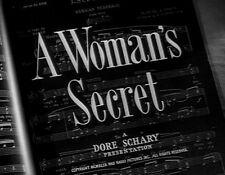 A WOMAN'S SECRET, 1949, Maureen O'Hara, Melvyn Douglas Film-Noir: Region 2 DVD-R