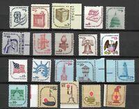 Mr B's US Americana Series  1975-1981 MNH OG Set Of 20 Stamps - Free Shipping