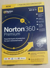 NORTON 360 PREMIUM SECURITY 10 DEVICES w VPN 75GB CLOUD BACKUP 2020 Ships Fast !
