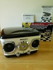 New listing Studebaker 3 Speed Record Turntable w. Am Fm Radio - Faux Retro Art Deco Style!