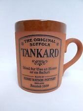 The ORIGINAL SUFFOLK TANKARD Terracotta Mug Cup Tea Coffee Henry Watson Pottery