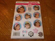 Simplicity Pattern 1820 ~ Hair Accessories ~ Headbands ~ Flower Details ~SO CUTE