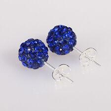 Disco Ball Beads Pave Crystal Rhinestones Ear Stud Earrings Colourful Wholesale