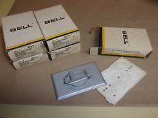 Bell Single Outlet Cover Plate 224-V , lot of 5
