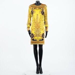 VERSACE 1850$ Barocco Femme Mini Dress In Multi Color Viscose