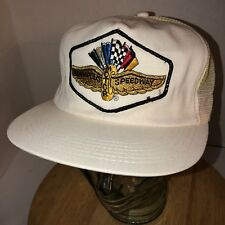 Vtg Indianapolis Motor Speedway 70s 80s Usa K-Products Trucker Hat Cap Snapback