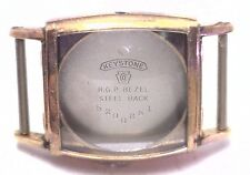 NOS Antique Vintage KEYSTONE Yellow Gold Plated Mens Watch Case w/ Crystal #UM5