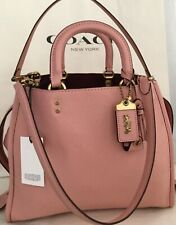 COACH 38124 1941 ROGUE BAG PEONY/BRASS  PEBBLE LEATHER W/DUST BAG MSRP $795 NWT