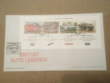 GB 2013 British Auto Legends Miniature Sheet RM UA FDC Little Hallingbury SHS