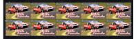 CRAIG LOWNDES FORD RACING STRIP OF 10 MINT VIGNETTE STAMPS 1