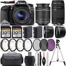 Canon EOS 90D DSLR Camera + 18-55mm STM Lens + 75-300mm III Lens + 4PC Marco Kit