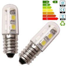 2 X E14 1W Mini White LED Light Bulbs for Range Hood Chimmey Fridge Cooker