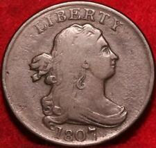 1807 Philadelphia Mint Copper Draped Bust Half Cent