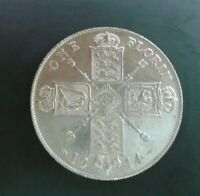 UK 1914 FLORIN HIGH GRADE GEORGE V BRITISH SILVER FLORIN ref SPINK 4012 Cc1