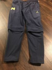 New Nike Jordan Men's Michigan Wolverines Jogger Fleece Pants Size Large Navy