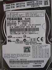 100 GB Toshiba mk1032gsx | 11may2006 | hdd2d30 T zk01 T | as024e DISCOTECA RIGIDO