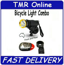 Solar Powered Bike Bicycle Tail Light  & Battery Headlight Torch Combo - Special
